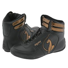 baby phat Mid Strap Boot (Black/Bronze) - Shoes