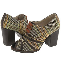Robert Clergerie Andros (Cafe) - Dress Boots :  heels plaid