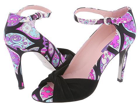 Emilio Pucci - 764902 (Black Cupola Satin) - Footwear
