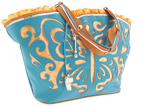 Loop Design Ipanema Isabeli Beach Bag (Turquoise) - Handbags