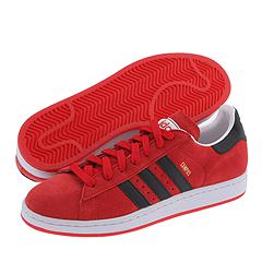 adidas Originals Campus II Suede (Light Scarlet/Black/White) - Hoops :  scarlet suede adidas originals