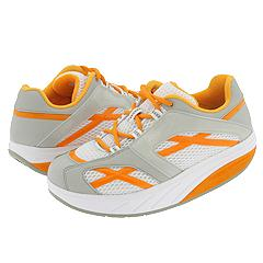 MBT - M.Walk (White/Orange Mesh & Synthetic Leather) - Footwear