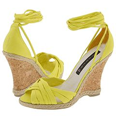 Steven Anxious (Yellow Fabric) - Opentoe/Peeptoe Dress Shoes from zappos.com