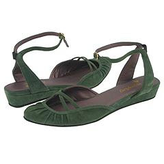 Faryl Robin Biscotti (Fern) - Dress Flats :  farylrobin suede summer sandals green