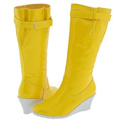 Restricted Rainy Day (Yellow) [Reviews Page 2] - Waterproof Casual Boots :  rubber boots wedge heels boots rain boots