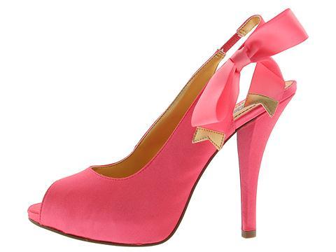 Hale Bob Melanie (Coral) - Hale Bob Footwear :  platform coral gorgeous heels
