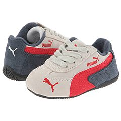 Puma Kids Light Flight S Inf (Infant/Toddler) (White/Ribbon Red/Ebony) - PUMA Kids Boys Footwear