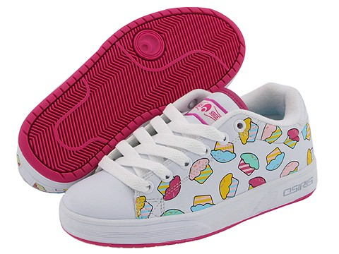 These very well might be the cutest shoes of all time. Available for Girls in sizes 12 toddler to 5 youth. By Osiris, available at Zappos.com for $44.95.