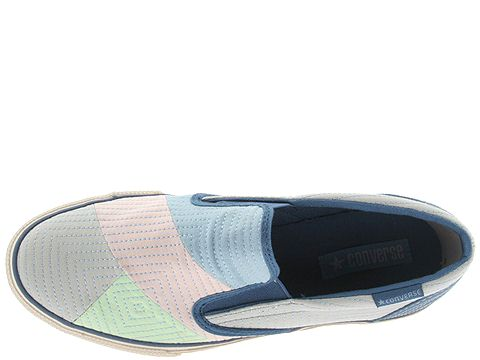 Converse Skidgrip® EV2 Patchwork (Grey/Pink/Blue) - Zappos.com :  loafers chuck taylor converse all star