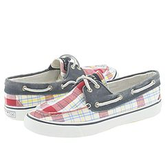Sperry Top-Sider Bahama 2 Eye (Red Madras/Navy) - Loafers :  loafers boat topsiders summer