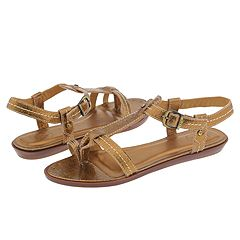 Frye Lola Gladiator Thong (Gold) - Comfort Casual Sandals from zappos.com