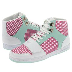 Creative Recreation Women's Cesario (Tiffany/Pink Polka Dot) - Women's :  high tops polka dots creative recreation shoes