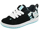 DC Kids - Court Graffik SE (Toddler/Youth) (Black/Ocean) - Footwear
