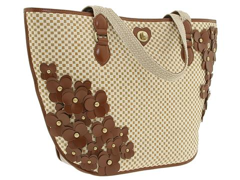 Moschino Paglietta Dual Handle Tote Beige/Hide - Bags and Luggage