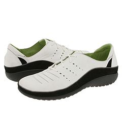 Naot Footwear - Kumara (White Leather/Black Suede) - Footwear
