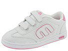 etnies Kids - Kids Lo-Cut Strap (Toddler/Youth) (White/Pink)