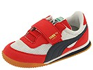 Puma Kids - Lab II V PS (Toddler/Youth) (White/Ribbon Red/New Navy) - Footwear