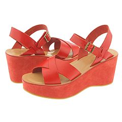 Kork-Ease Original Wedge (Campari) - Kork-Ease Women's :  wedge retro sandals shoes