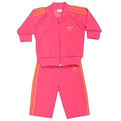 adidas Kids Baby Superstar Track Suit (Infant/Toddler) (Intense Pink/Intense Pink) - 24 Mos.) Infant (0