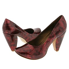 Type Z Camie Red Marble Platform Shoes :  50s shoes type z camie red marble - shoes platforms platforms retro