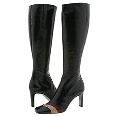 Emilio Pucci 774829 (Black/Taupe/Wine Patent) - Knee-High Dress Boots