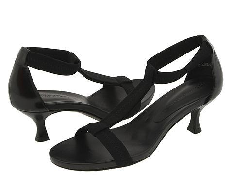 Donald J Pliner - Bozie (Black Mesh Elastic/Baby Calf) - Footwear