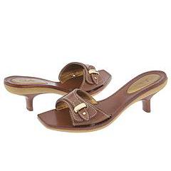 Cole Haan Yoselin Slide (Luggage) - Heel Dress Sandals