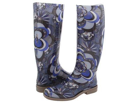 Emilio Pucci - 774105 (Blue Roses Rubber) - Footwear