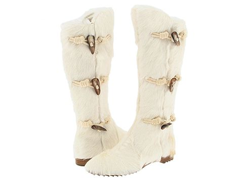 Sergio Rossi Chasa-Boot White Fur - Footwear