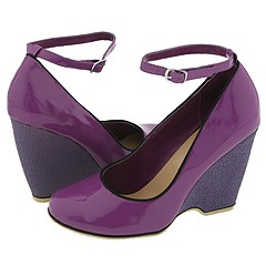 Penny Loves Kenny Gaze (Purple) - Women's Dress :  rubber wedge purple modern