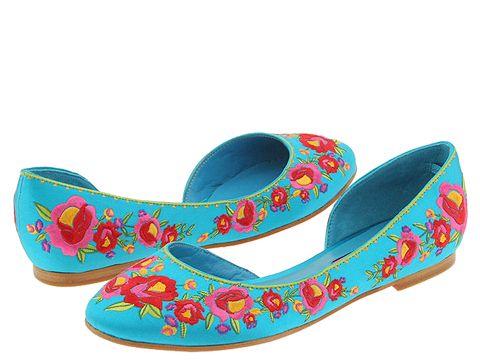 Betsey Johnson Jonila :  floral ballet flats jonila open shank