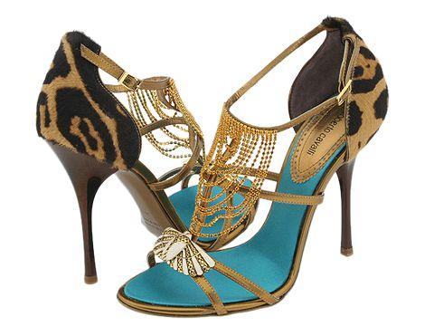 Roberto Cavalli L70036 Gold - Footwear