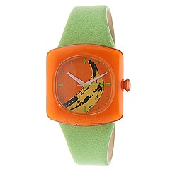 Andy Warhol 15 Watch Collection - Banana (Banana Dial/Lime Green Strap) - Jewelry