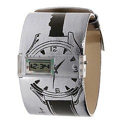 Andy Warhol 15 Watch Collection - Silver Sketch (Silver And Black) - Jewelry