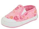 Roxy Kids - Pepperdine (Infant) (Pink Canvas/Floating Hearts) - Footwear