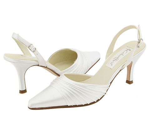 Coloriffics - Godiva (White Pleated Satin) - Footwear
