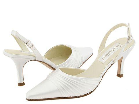 Coloriffics - Godiva (White Pleated Satin) - Footwear