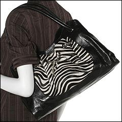 Furla Handbags - Lucrezia Medium Shoulder (Black/White Zebra) - Bags and Luggage
