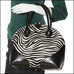 Furla Handbags - Loto Medium Shopper (Black/White Zebra) - Bags and Luggage