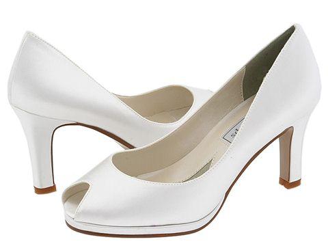 Touch Ups - Marissa (White Satin) - Footwear