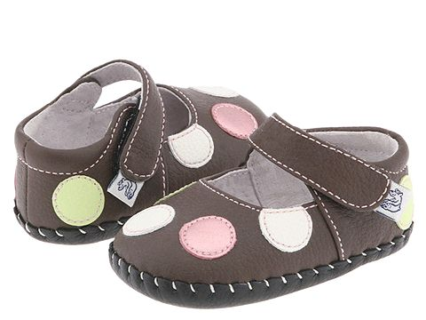pediped Giselle Original (Infant) - Chocolate Brown/Polka Dots