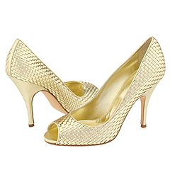 Dolce Gabbana Gold Peep Toe Pump   Manolo Likes!  Click!