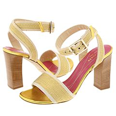 Kate Spade Keegan (Natural/Gold Webbing) - Kate Spade Women's Shoes :  spring natural ankle heels
