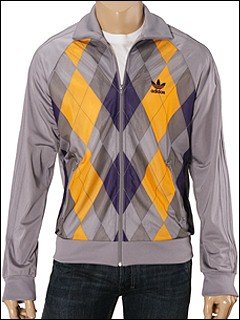adidas Originals Diamond Nets Track Top (Aluminum/Eggplant) - Jackets from zappos.com