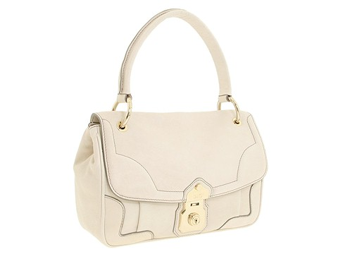 D&G Dolce & Gabbana Small Leather Allyson Shoulder Natural White - Bags and Luggage