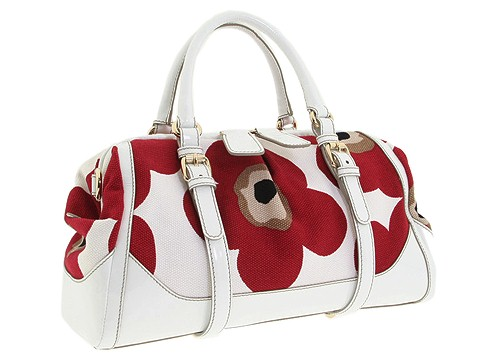 D&G Dolce & Gabbana Medium Suzanne Canvas And Patent Satchel Safari - Bags and Luggage