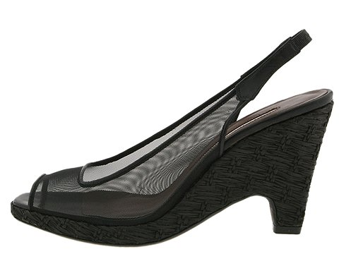 Donald J Pliner - Manka (Black Screen/Straw) - Women's