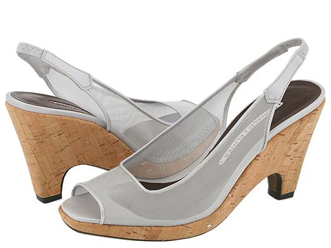 Donald J Pliner - Manka (Silver Lurex Screen/Cork) - Women's