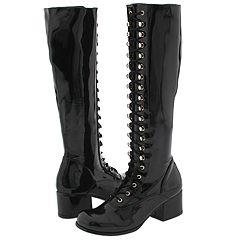Pleaser USA Retro 302 (Black Patent) - Casual Boots