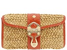 MICHAEL Michael Kors - Santorini Chain Flap (Orange Patent (822)) - Bags and Luggage